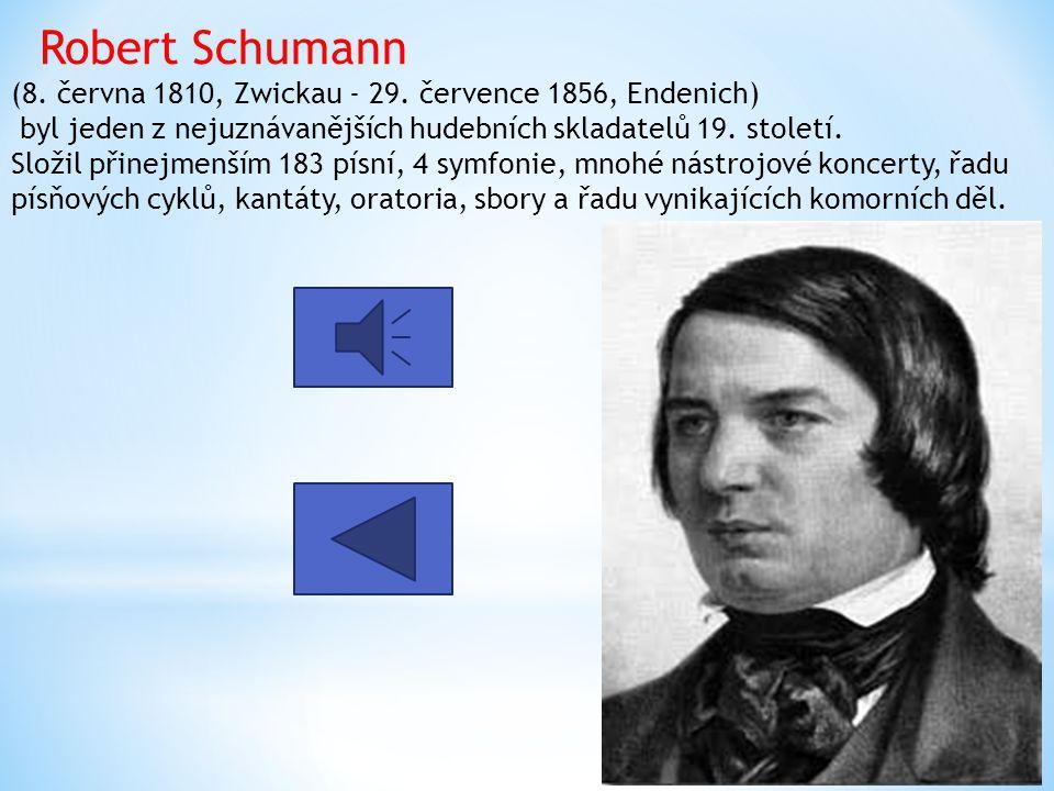 Robert Schumann (8. června 1810, Zwickau - 29