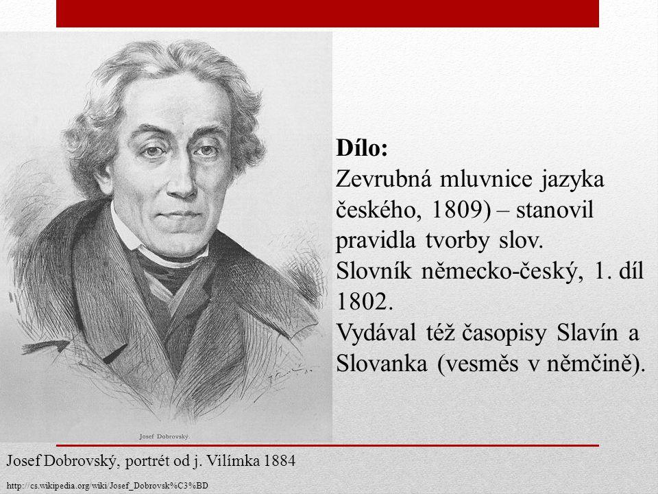 Slovník německo-český, 1. díl 1802.
