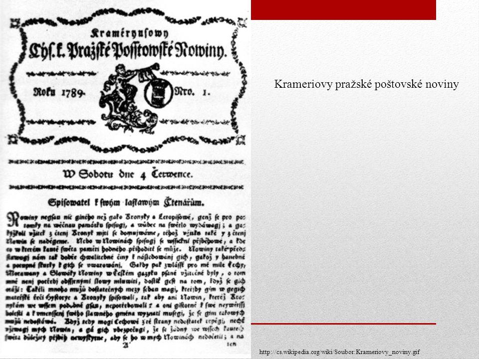 Krameriovy pražské poštovské noviny