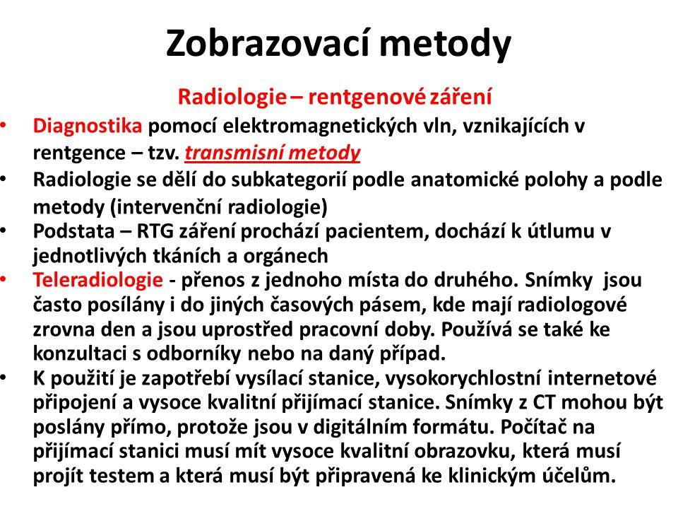 Radiologie – rentgenové záření