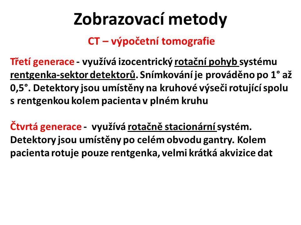 CT – výpočetní tomografie