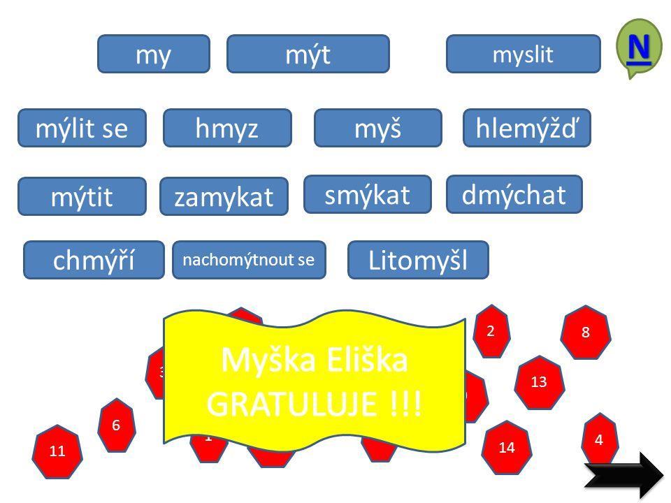 Myška Eliška GRATULUJE !!!