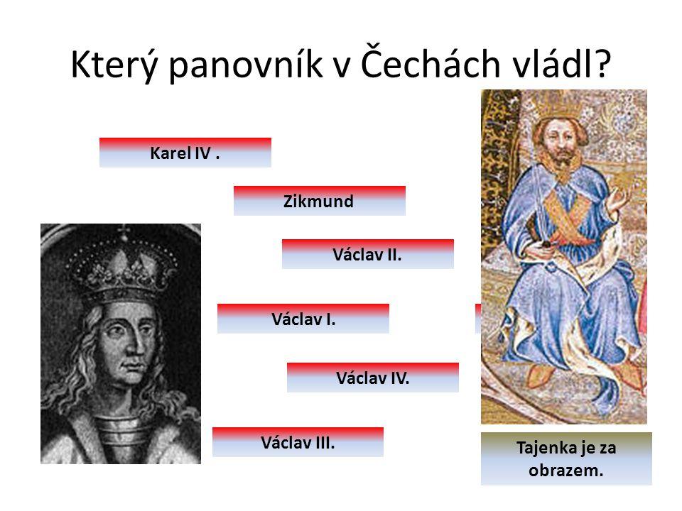 Který panovník v Čechách vládl