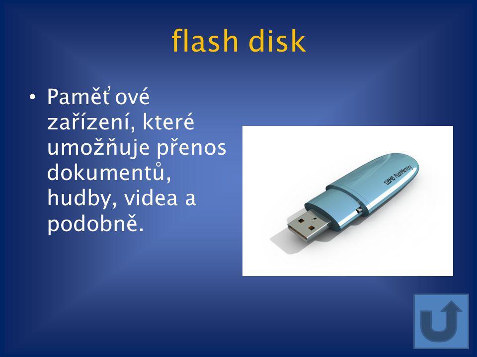 flash disk Paměťové zařízení, které umožňuje přenos dokumentů, hudby, videa a podobně. klipart