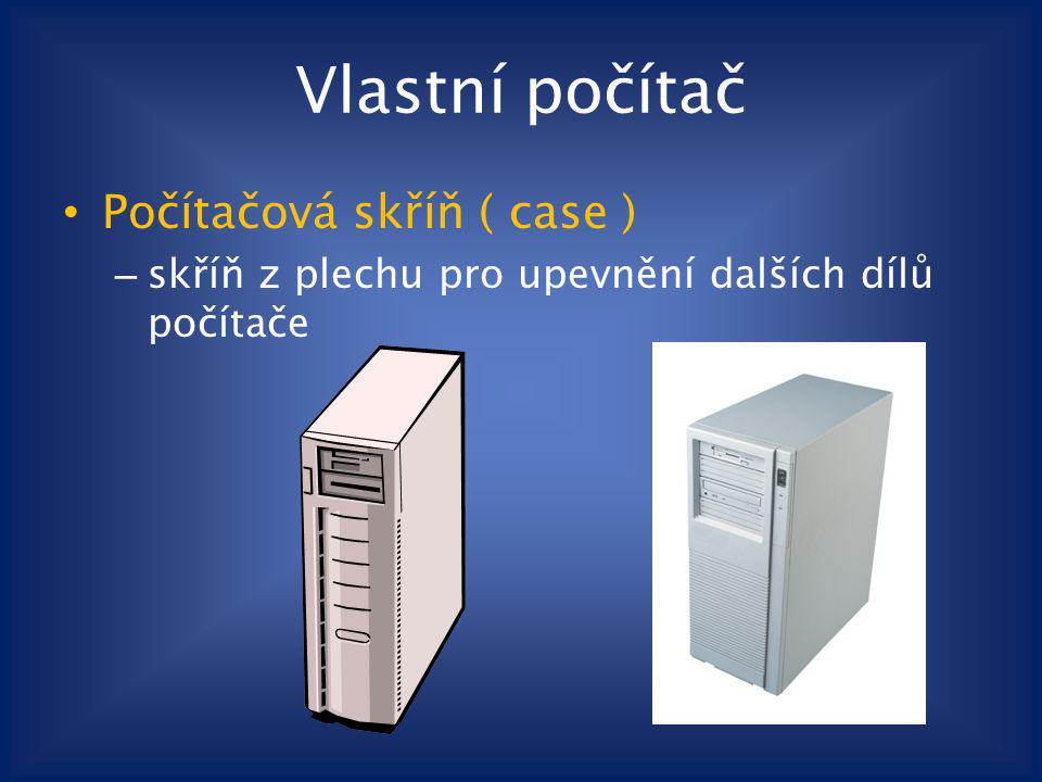 Vlastní počítač Počítačová skříň ( case )