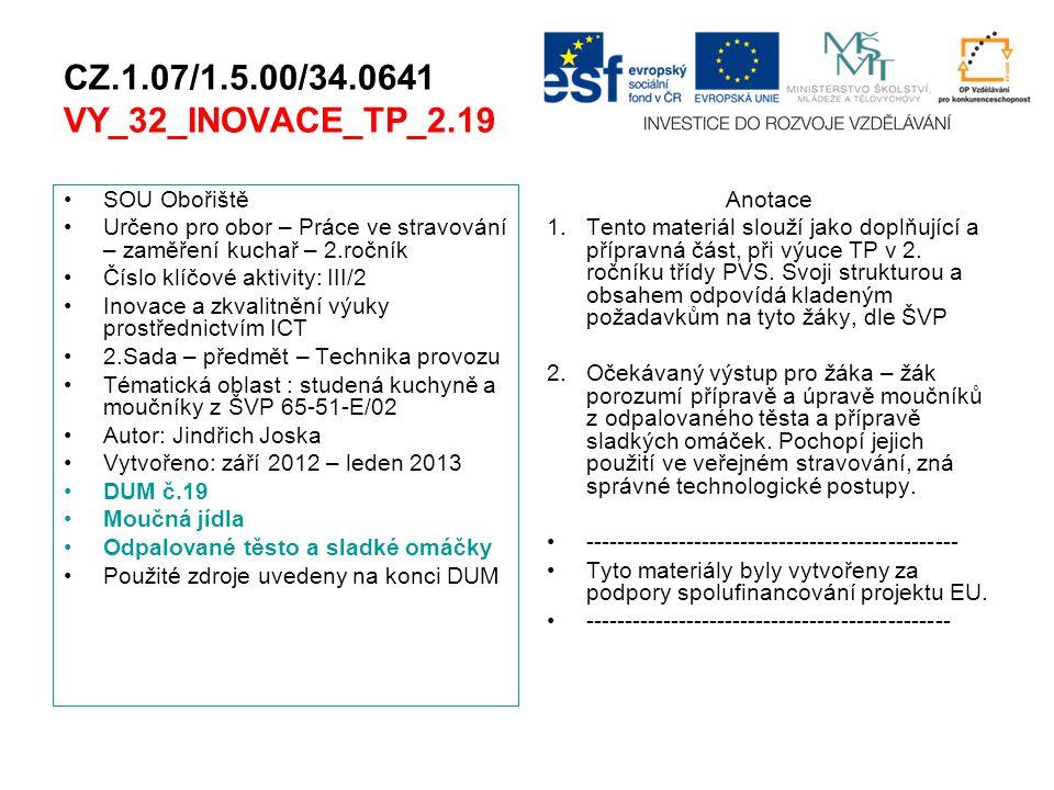 CZ.1.07/1.5.00/34.0641 VY_32_INOVACE_TP_2.19 SOU Obořiště