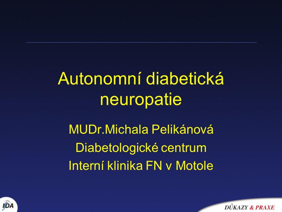 Autonomní diabetická neuropatie