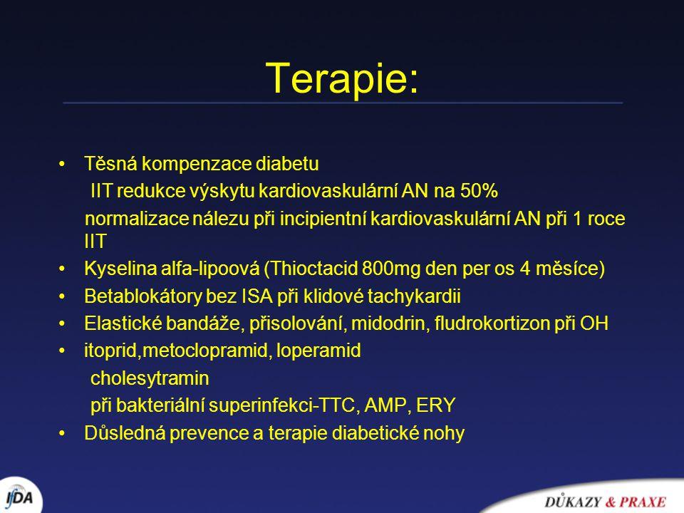 Terapie: Těsná kompenzace diabetu
