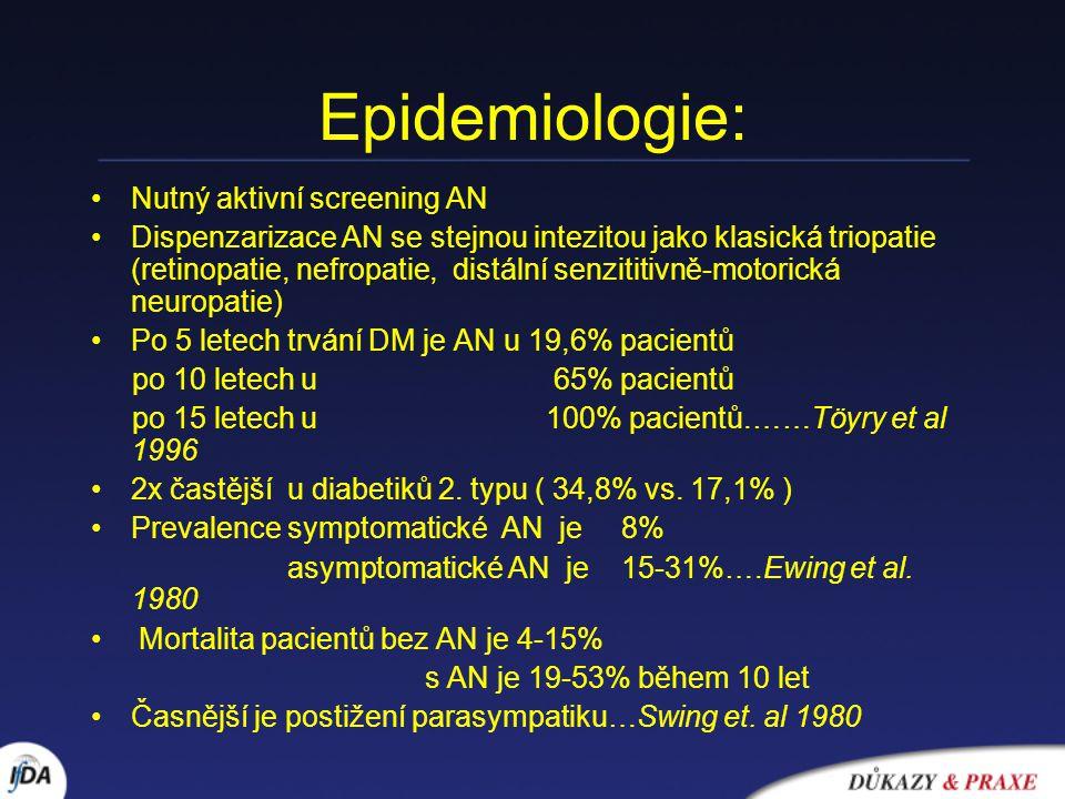Epidemiologie: Nutný aktivní screening AN