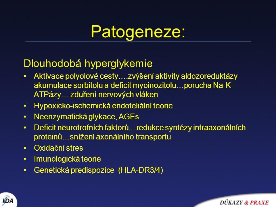Patogeneze: Dlouhodobá hyperglykemie