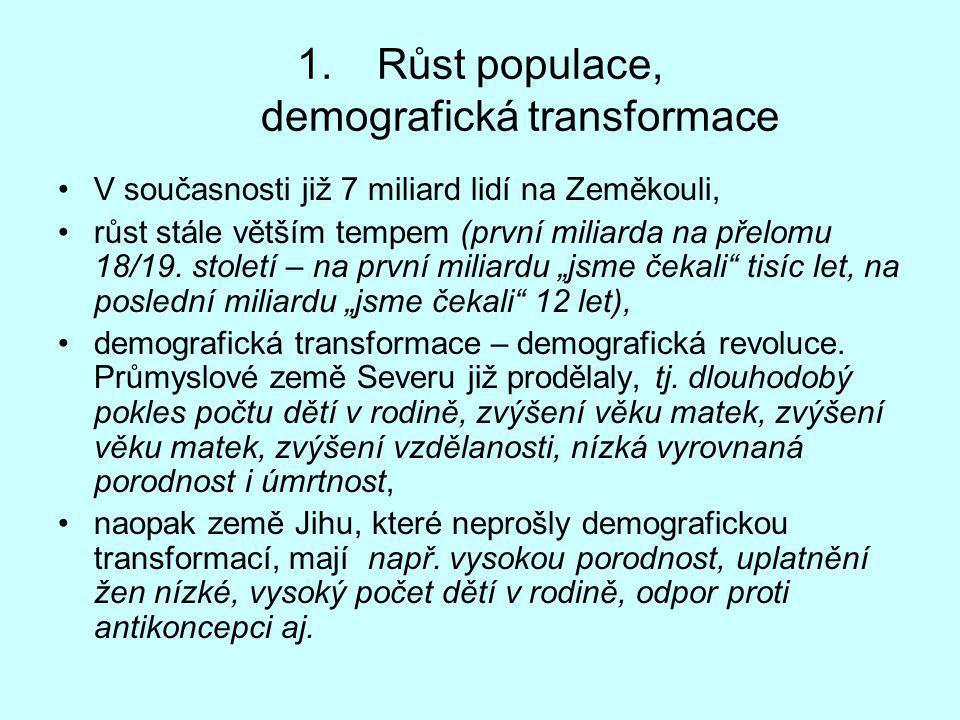 Růst populace, demografická transformace