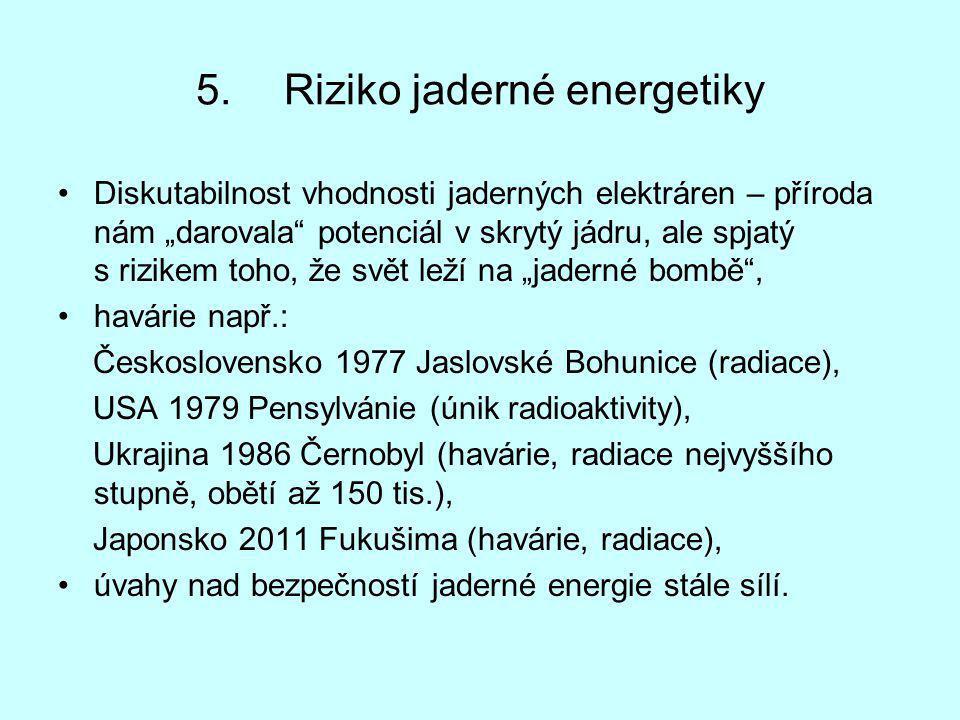 Riziko jaderné energetiky