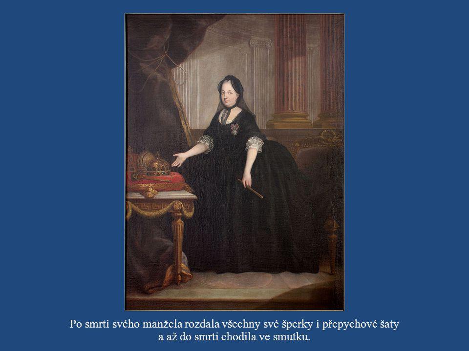 Po smrti svého manžela rozdala všechny své šperky i přepychové šaty