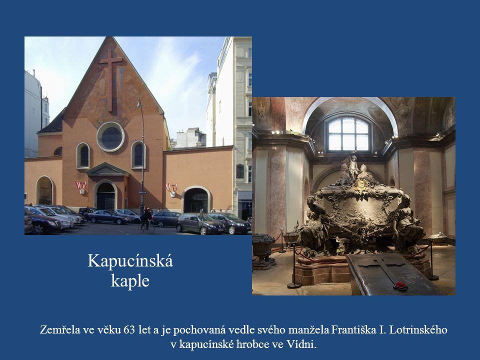 v kapucínské hrobce ve Vídni.