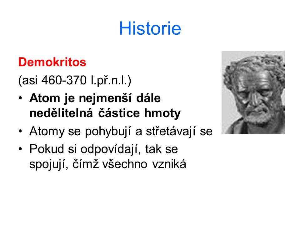 Historie Demokritos (asi 460-370 l.př.n.l.)