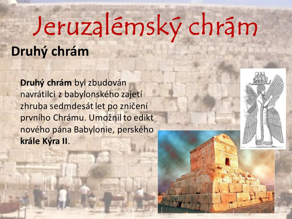 Jeruzalémský chrám Druhý chrám