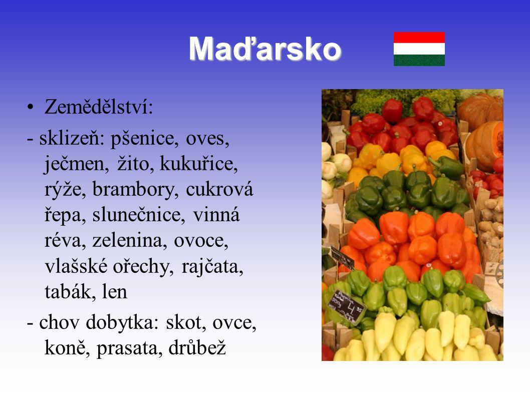 Maďarsko Zemědělství: