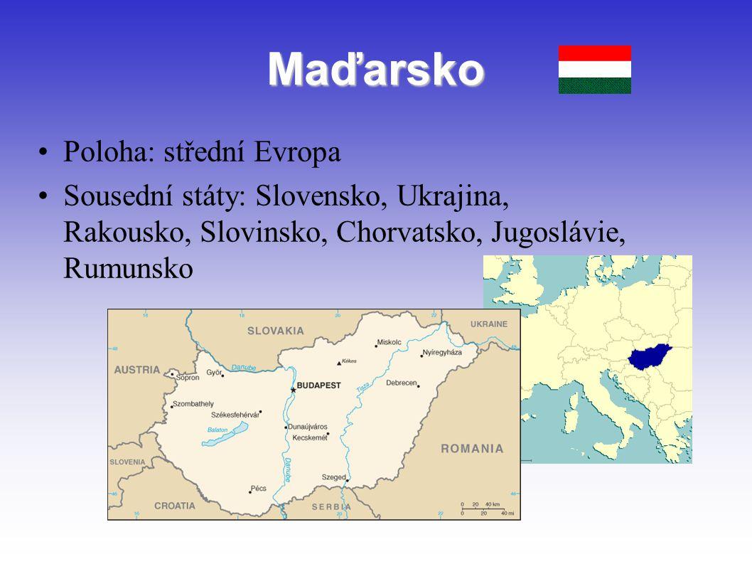 Maďarsko Poloha: střední Evropa