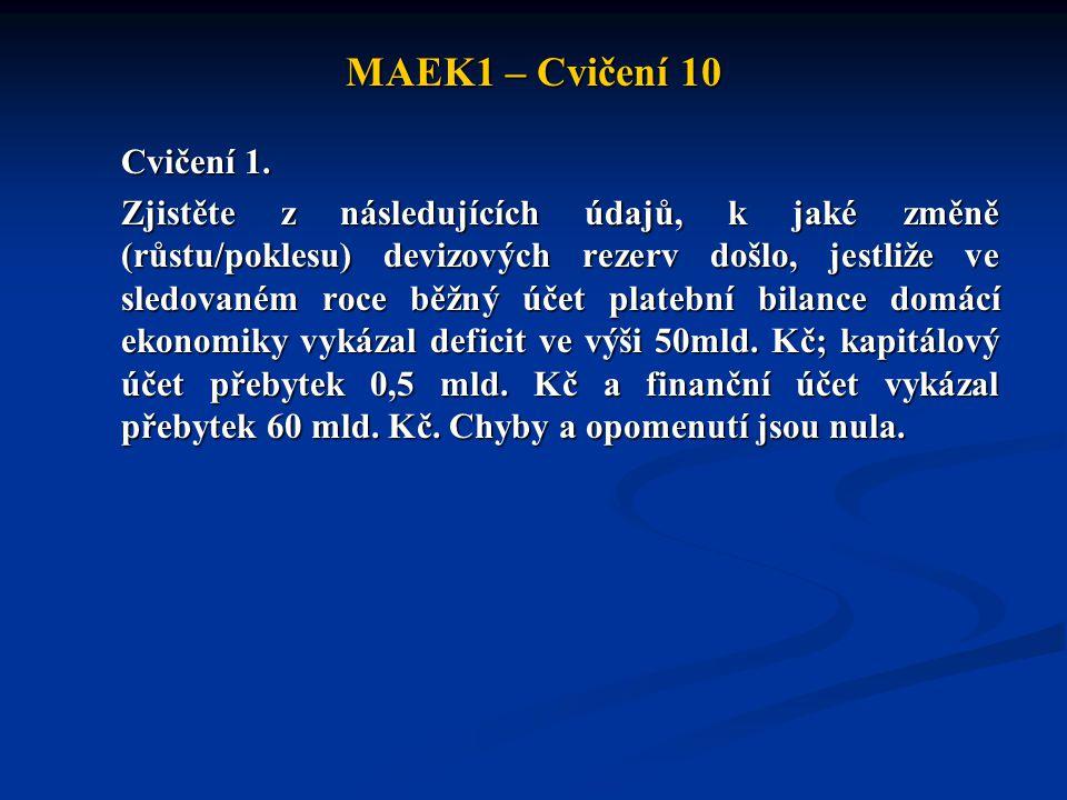 MAEK1 – Cvičení 10