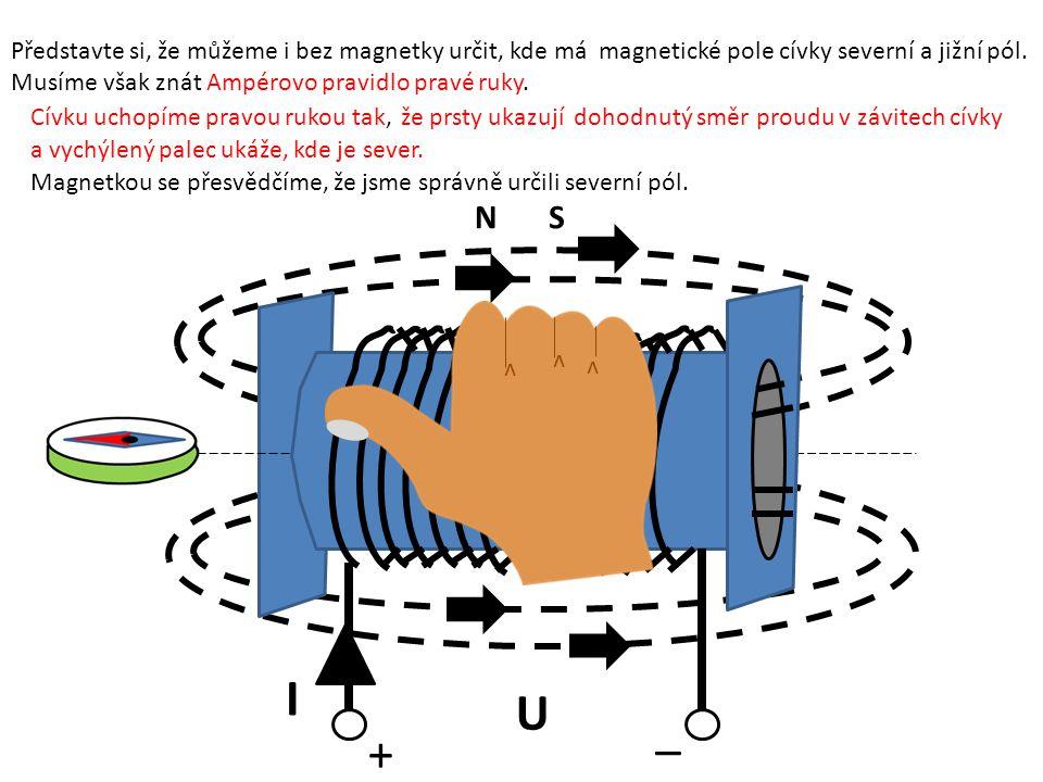 Představte si, že můžeme i bez magnetky určit, kde má magnetické pole cívky severní a jižní pól.