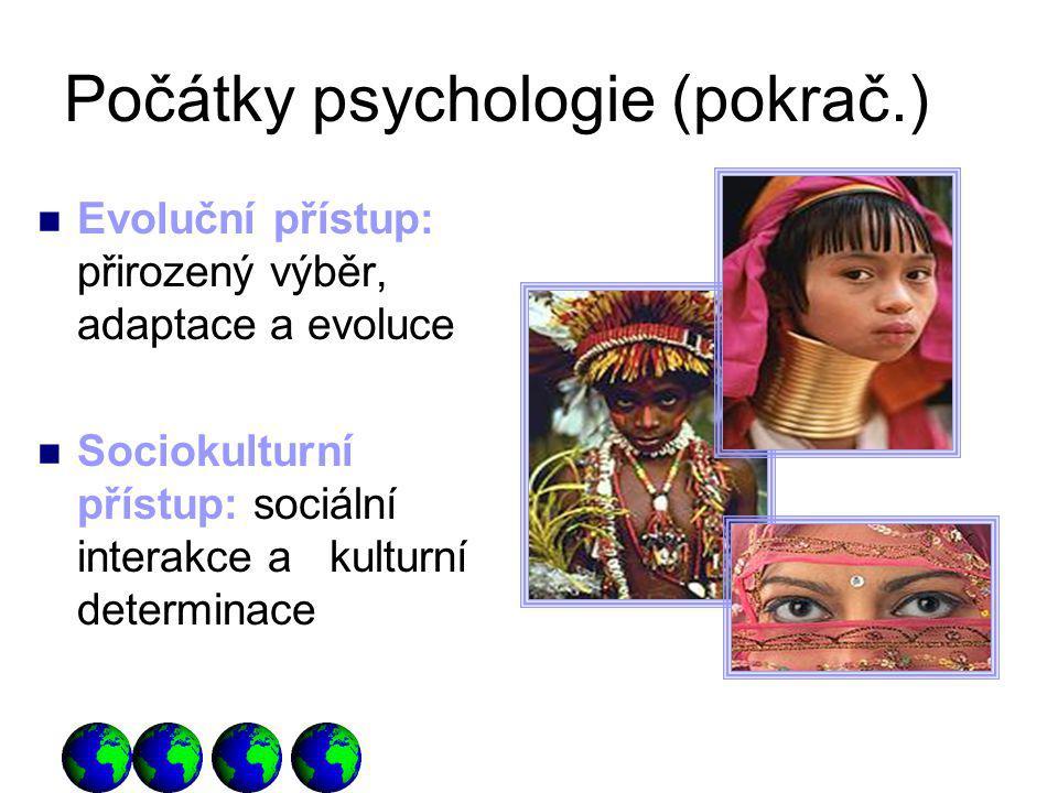 Počátky psychologie (pokrač.)