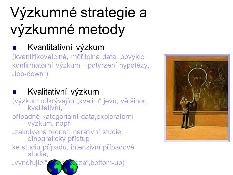 Výzkumné strategie a výzkumné metody
