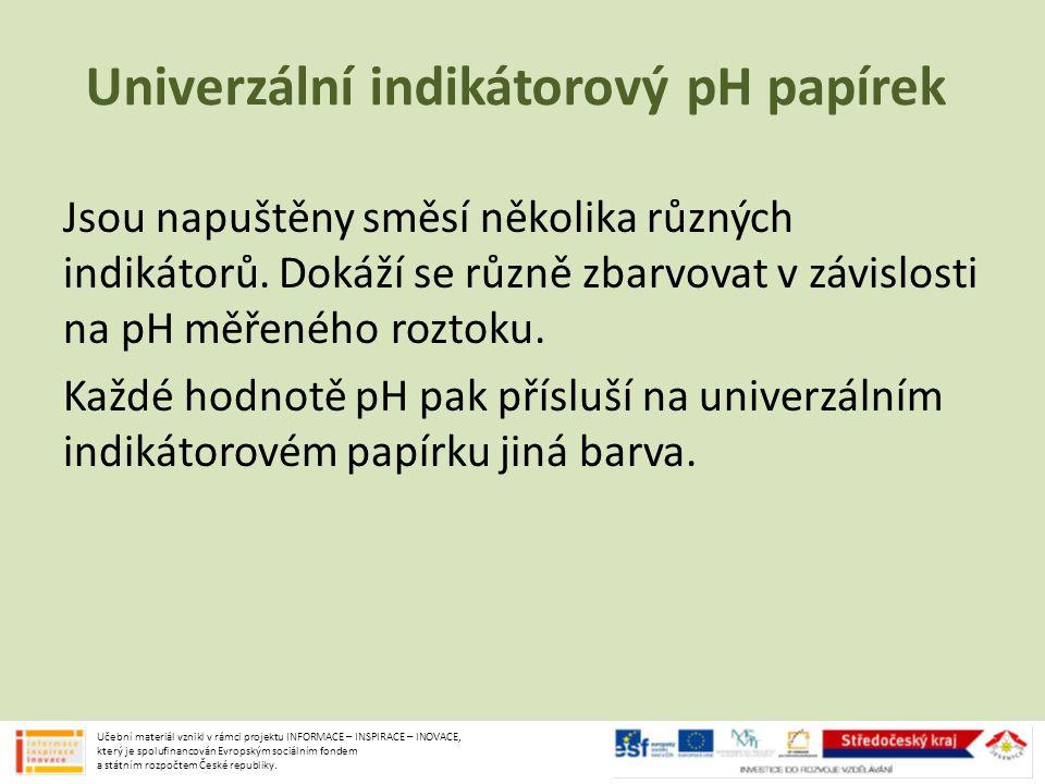 Univerzální indikátorový pH papírek