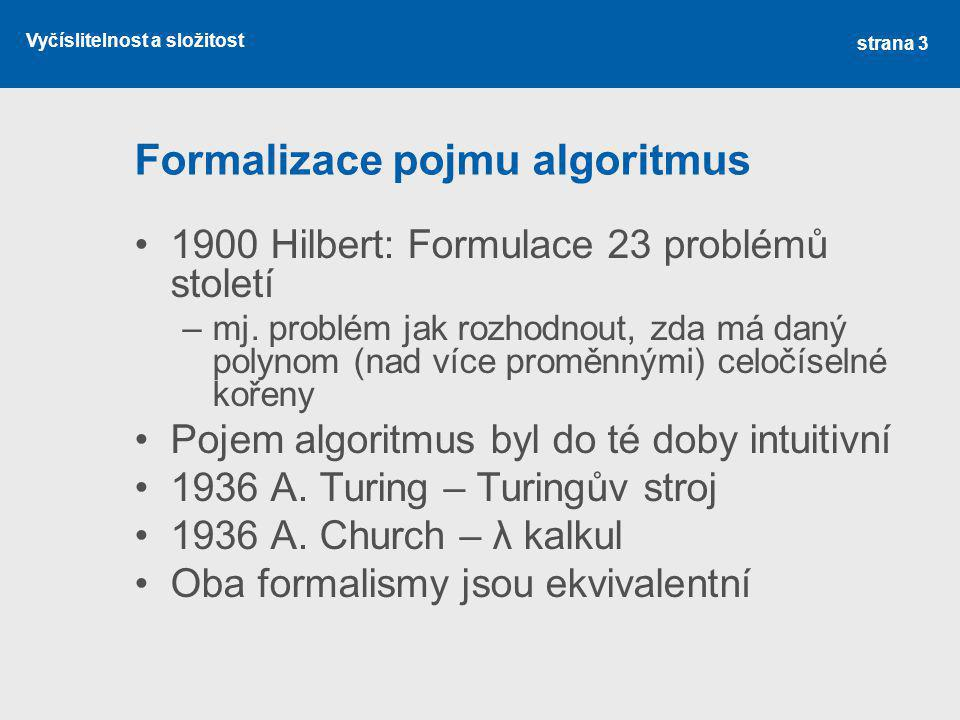 Formalizace pojmu algoritmus
