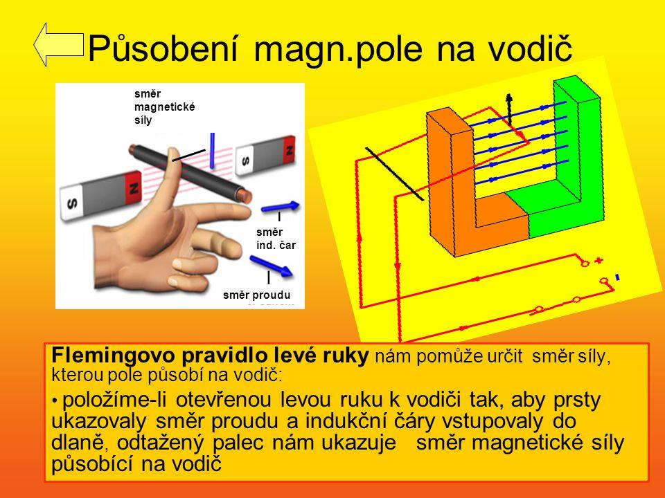 Působení magn.pole na vodič