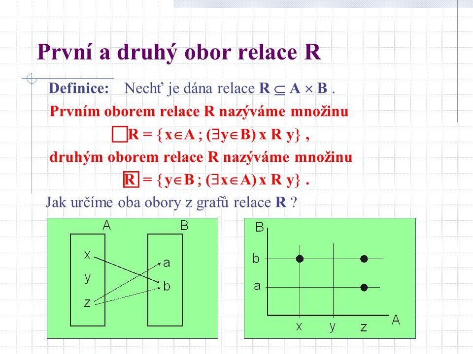 První a druhý obor relace R