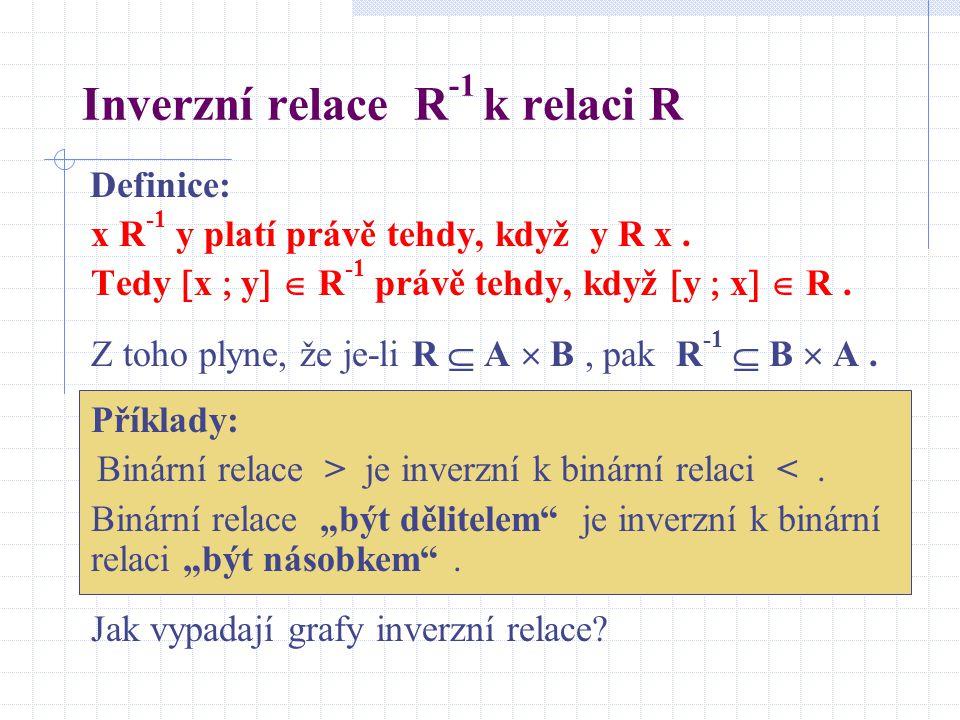 Inverzní relace R-1 k relaci R