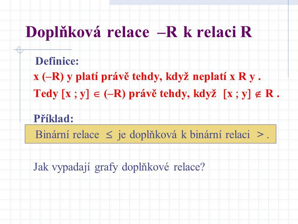 Doplňková relace –R k relaci R