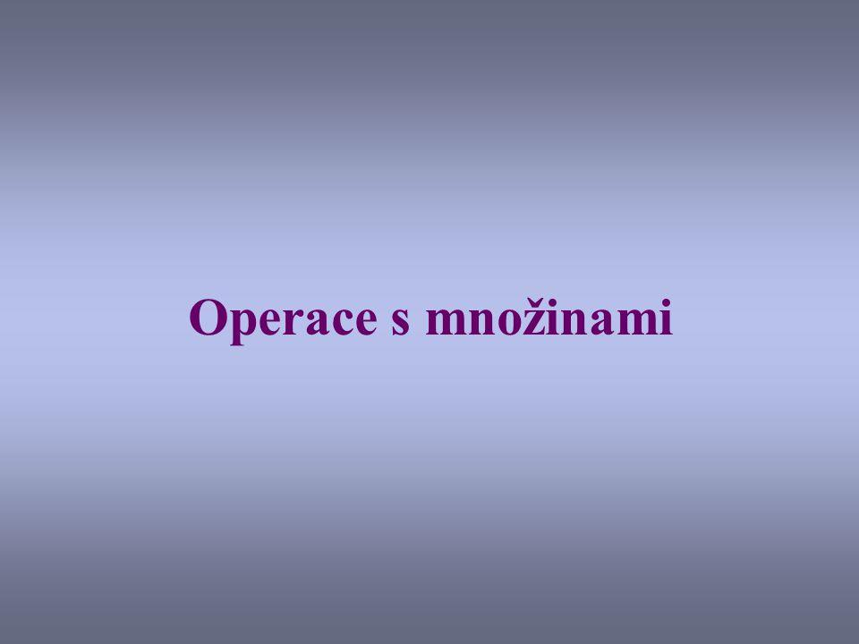 Operace s množinami