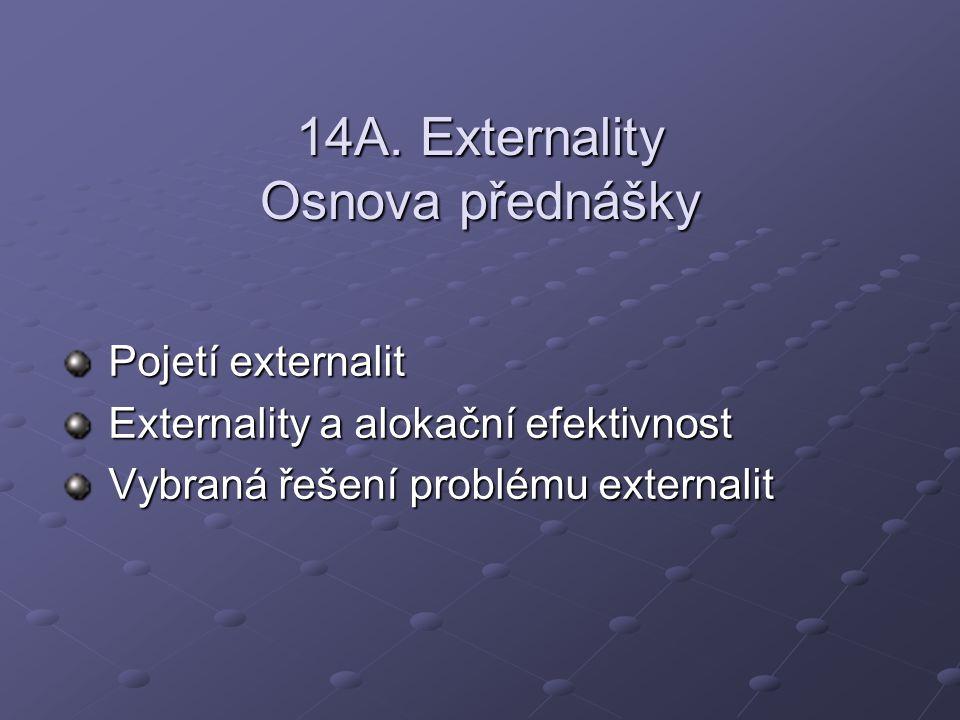 14A. Externality Osnova přednášky