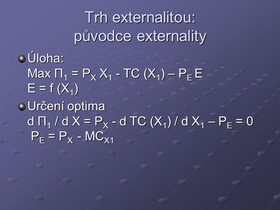 Trh externalitou: původce externality