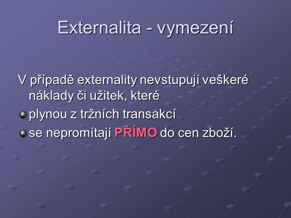Externalita - vymezení