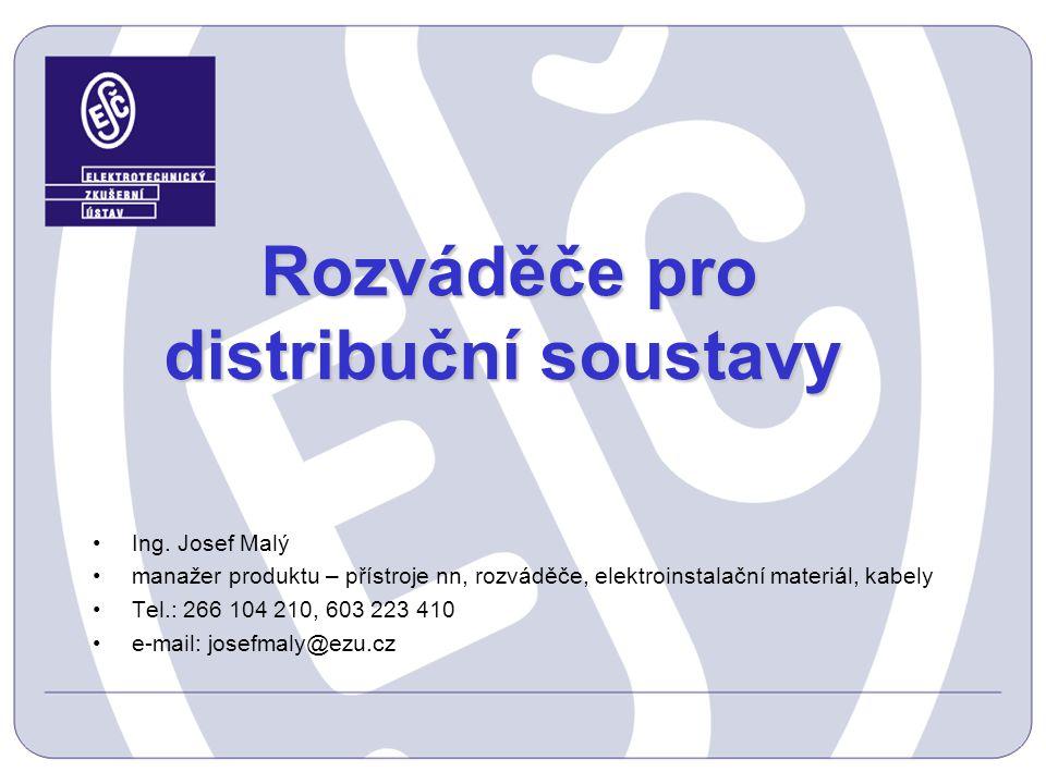 Rozváděče pro distribuční soustavy