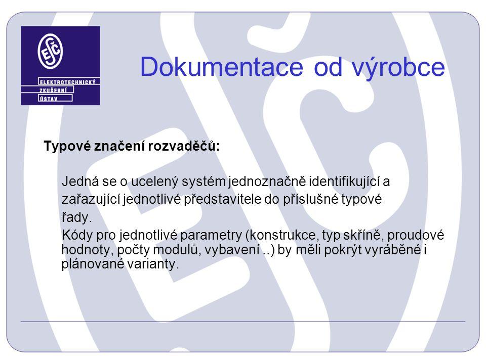 Dokumentace od výrobce