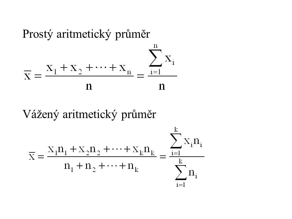 Prostý aritmetický průměr