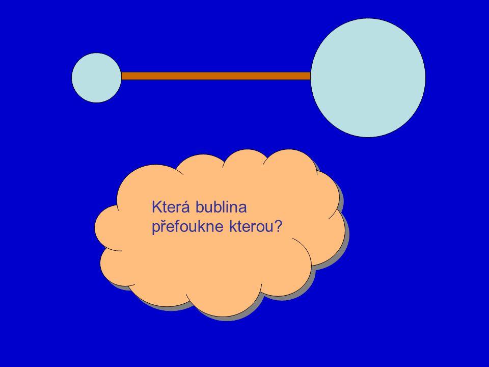 Která bublina přefoukne kterou