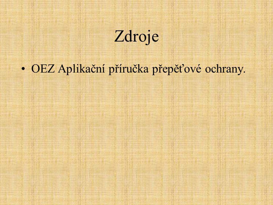 Zdroje OEZ Aplikační příručka přepěťové ochrany.