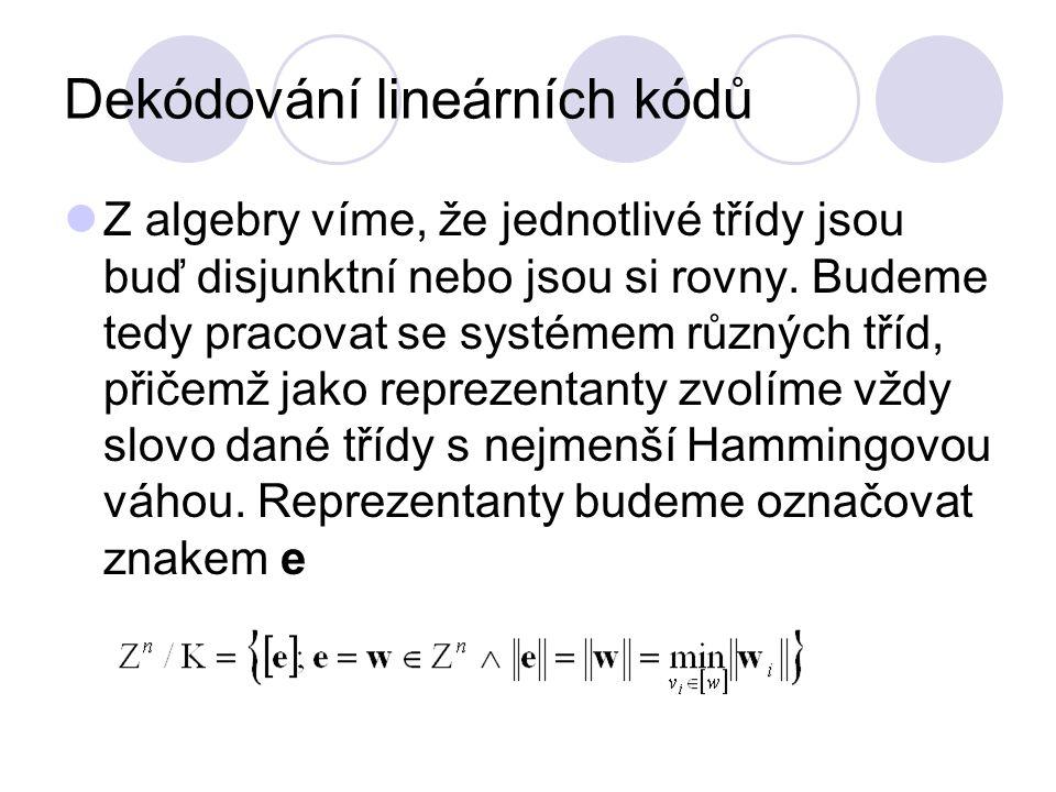 Dekódování lineárních kódů