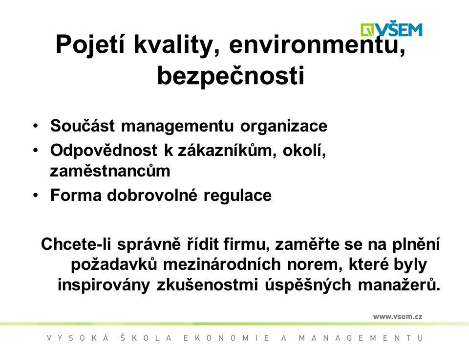 Pojetí kvality, environmentu, bezpečnosti