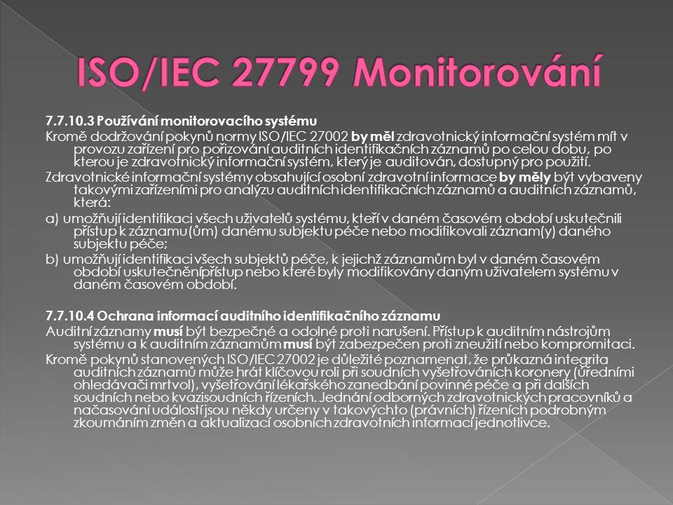 ISO/IEC 27799 Monitorování