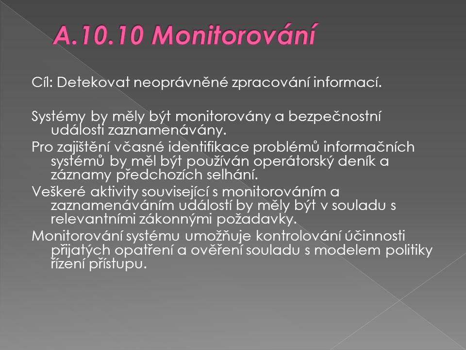 A.10.10 Monitorování