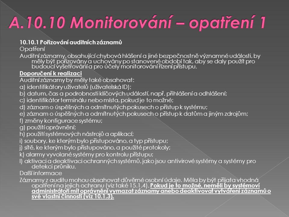 A.10.10 Monitorování – opatření 1