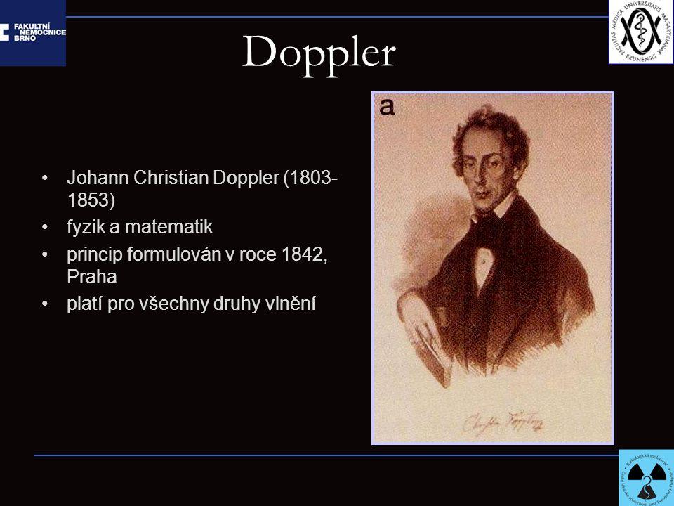 Doppler Johann Christian Doppler (1803-1853) fyzik a matematik