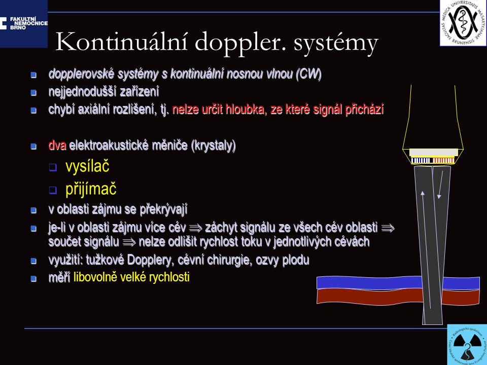 Kontinuální doppler. systémy