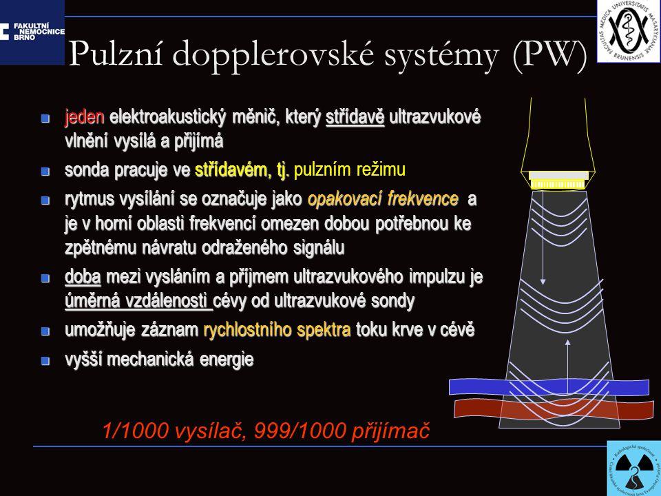 Pulzní dopplerovské systémy (PW)