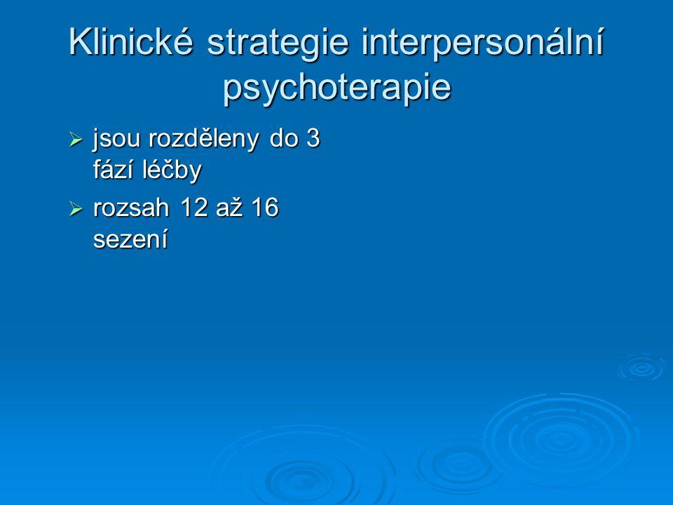Klinické strategie interpersonální psychoterapie